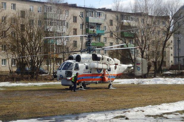 ВТверской области вертолёт вновь помог медиками доставить пациента в клинику