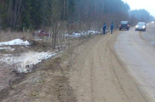ВТверской области при опрокидывании иномарки пострадали люди