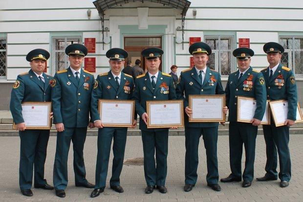 награжденные пожарные