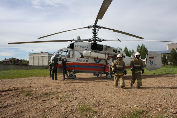 вертолет МЧС_Удомля
