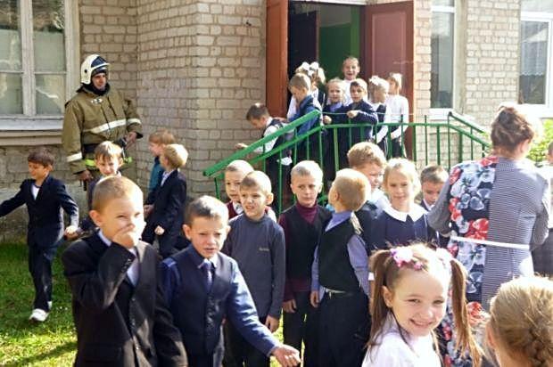 эвакуация школы