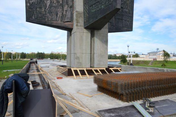 площадь победы-ремонт