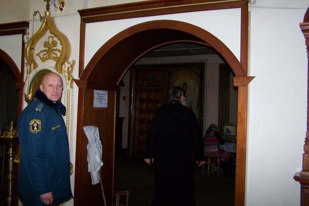 МЧС в храме