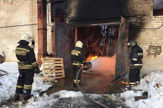 пожар в цеху