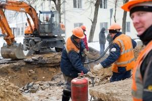 устарение аварии на теплопроводе в Твери