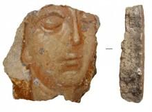 фрагмент фрески, найденной при раскопках на месте Спасо-Преображенского собора