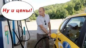 путин и бензин
