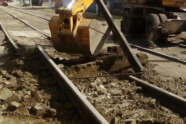 демонтаж трамвайнх путей