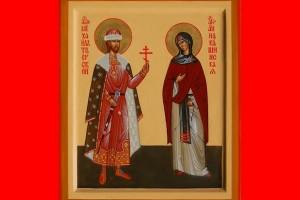 михаил тверской и анна кашинская икона