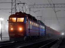 поезд ночью