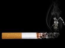 горящая сигарета-курение