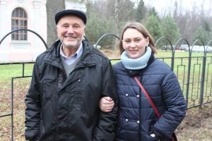 Всеволод Берней с дочерью