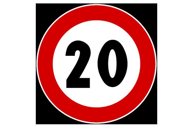 органичение скорости до 20