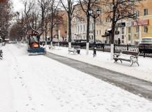 уборка снега в Твери-Радищева