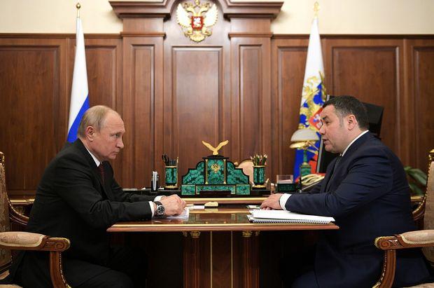 Владимир Путин провел встречу с Игорем Руденей