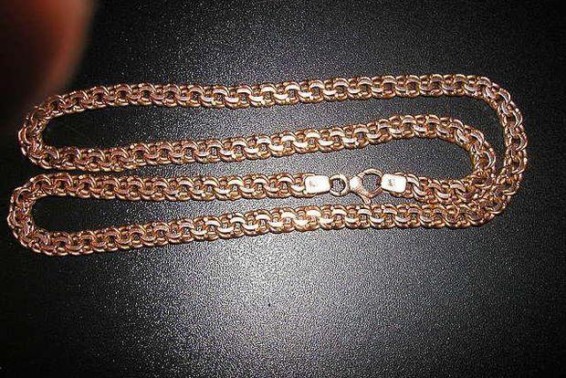 Аукционы Лот - золотая цепочка мужская 60 см